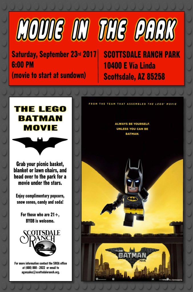 Movie in the Park - The Lego Batman Movie - Scottsdale Ranch ...